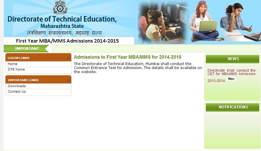 Maharashtra Cet For Mba Mms Admissions Back